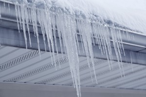 Icicles on rain gutter
